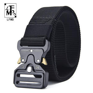 [LFMB]Tactical Belt New Nylon men's training belt metal multifunctional buckle sports Magnetic Waist Belt Outdoor Hunting