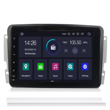 IPS!Car Multimedia player Android 10 4+64G 2 Din dvd GPS Autoradio For Mercedes/Benz/CLK/W209/W203/W208/W463/Vaneo/Viano/vito image