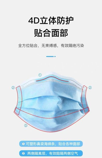 100PCS Face Mouth Anti Virus Mask Disposable Protect 3 Layers Filter Dustproof Earloop face Mouth Masks Non Woven 2