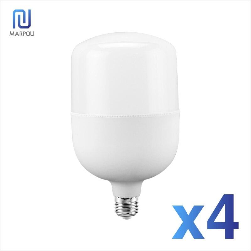 4Lot No Flicker LED Bulb Light E27 Bulbs 5W 10W 15W 20W 30W 40W 50W 220V Energy Saving Lamp Lampada LED Spotlight Table Lamp Lam