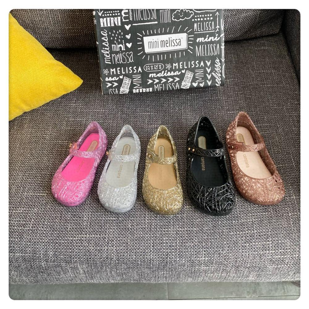 Mini Melissa Campana Zig Zag Girl Jelly Shoes Beach Sandals 2020 Baby Shoes Soft Melissa Sandals Kids Jelly Princess Shoes
