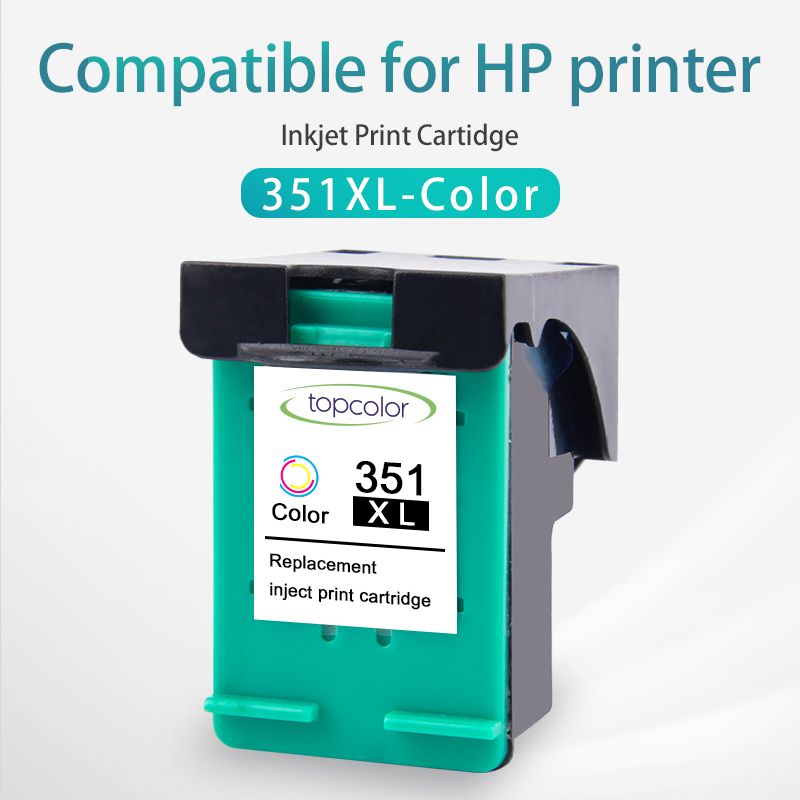 Topcolor 351XL Tri-Color Ink <font><b>Cartridge</b></font> Replacement for <font><b>HP</b></font> <font><b>351</b></font> XL hp351 for C4358 5275 4210 4272 5273 Officejet J5785 Printer image