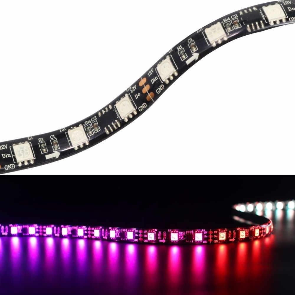 DC12V 5M WS2811 LED píxel tira de luz RGB a todo Color 5050 Led tira cinta Flexible direccionable Digital LED cinta 1 Ic Control 3