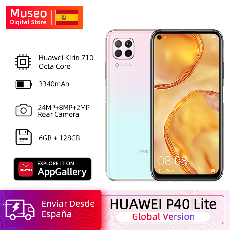 Global Version Huawei P40 Lite Cellphone 6G 128G 48MP Cameras AI 16MP Front Camera 6.4 ''FHD Screen Kirin 810 EMUI 10