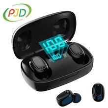 PJD 2020 Bluetooth 5.0 słuchawki sterowanie dotykowe LED TWS słuchawki bezprzewodowe 9D dźwięk radia muzyki IPX7 wodoodporne słuchawki douszne zestaw słuchawkowy