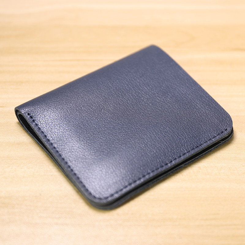 Masculino curto ultra-fino mini carteira masculina de