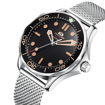 Automatic Self Wind Mechanical Net Stainless Steel Nylon Strap Luxury Men New Limited Watch 2