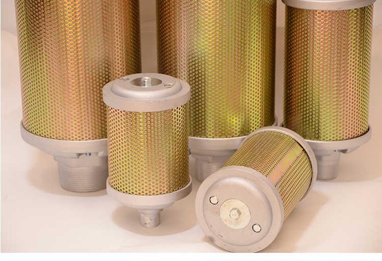 Silenciador del silenciador del silenciador del compresor de aire Silenciador del filtro de admisi/ón de metal con rosca de 16 mm 16 mm