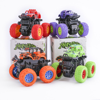 Fine Quality Baby Kids Car Toys Monster Truck Inertia SUV Friction Power Vehicles Model Cars Blaze Truck Children Gift image