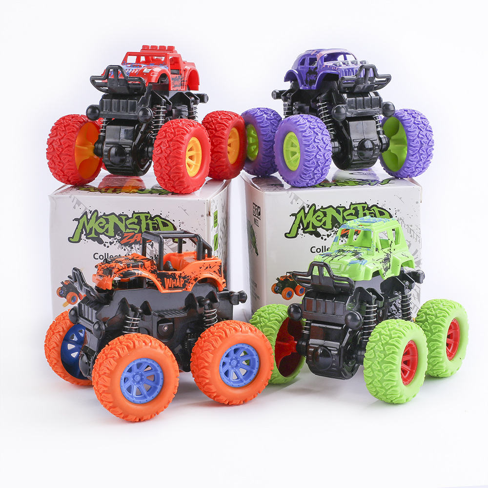 Fine Quality Baby Kids Toys Cars Monster Truck Inertia SUV Friction Power Vehicles Model Cars Blaze Truck Toys Children Gift