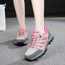 Rosa Sicherheit Schuhe Frauen Bau Schuhe Sicherheit Arbeit Stiefel Leichte Stahl Kappe Schuhe Frauen
