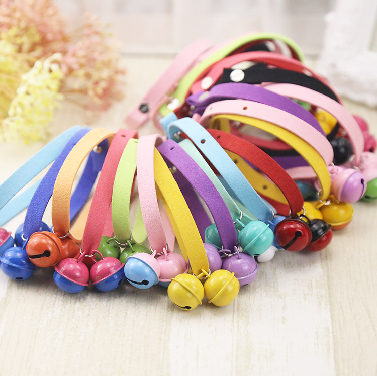 Pure Hand Made Lightweight Candy-Colored Cat Bell Neck Ring Dog Neck Ring Pet Supplies Teddy Bell Scarf Collar