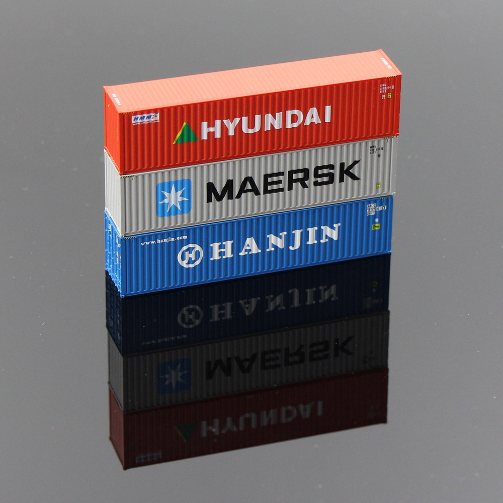 10pcs 40ft Containers Shipping 1 150 Container Freight Car N Scale Model Trains lot C15008