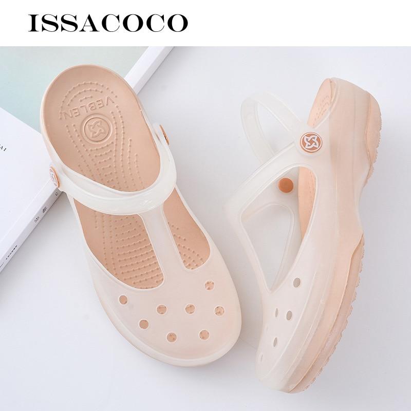 ISSACOCO Shoes Woman Sandals Women Summer Women Sandals Flat Beach Sandals Summer Sandals Sandals Platform Summer Ladies Shoes