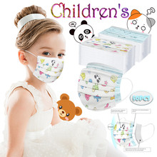 Halloween Cosplay Mask Mascara Printed Disposable 3-Layer Boy Girl And 50pcs Children