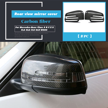 цена на Dry Carbon Fiber Side Mirror Cover Cap Rearview Mirror Cover for Mercedes-Benz Class Class A B C E S CLA GLA CLS GLK W204