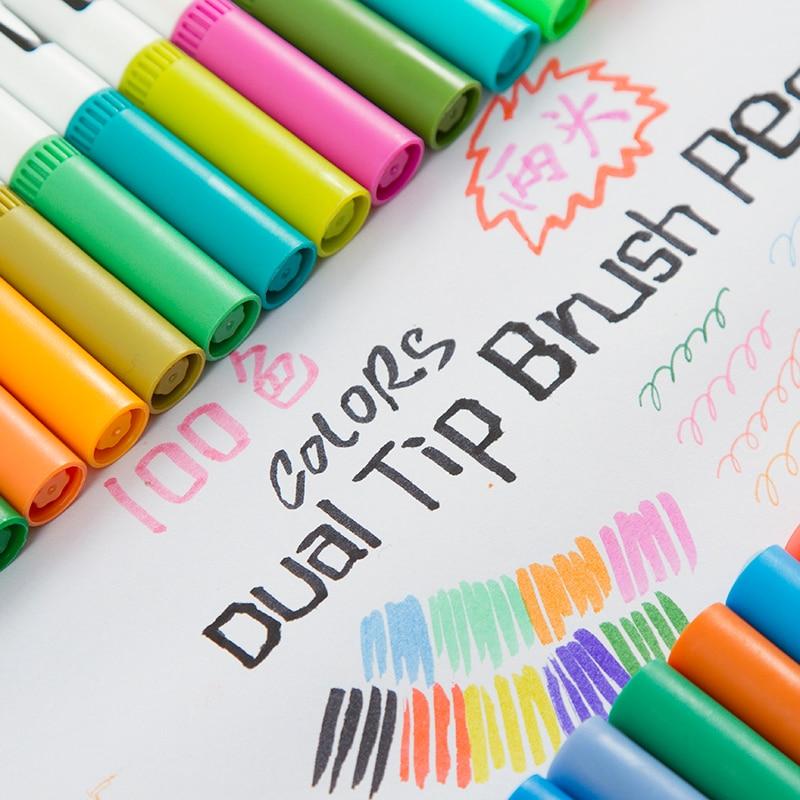 flexível escova & fineliner dicas-efeitos de aquarela-marcadores
