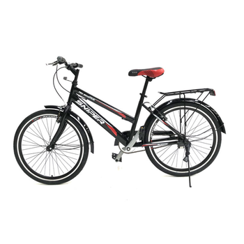 24 inch single speed student bike adult commuter bicycle Carbon steel image