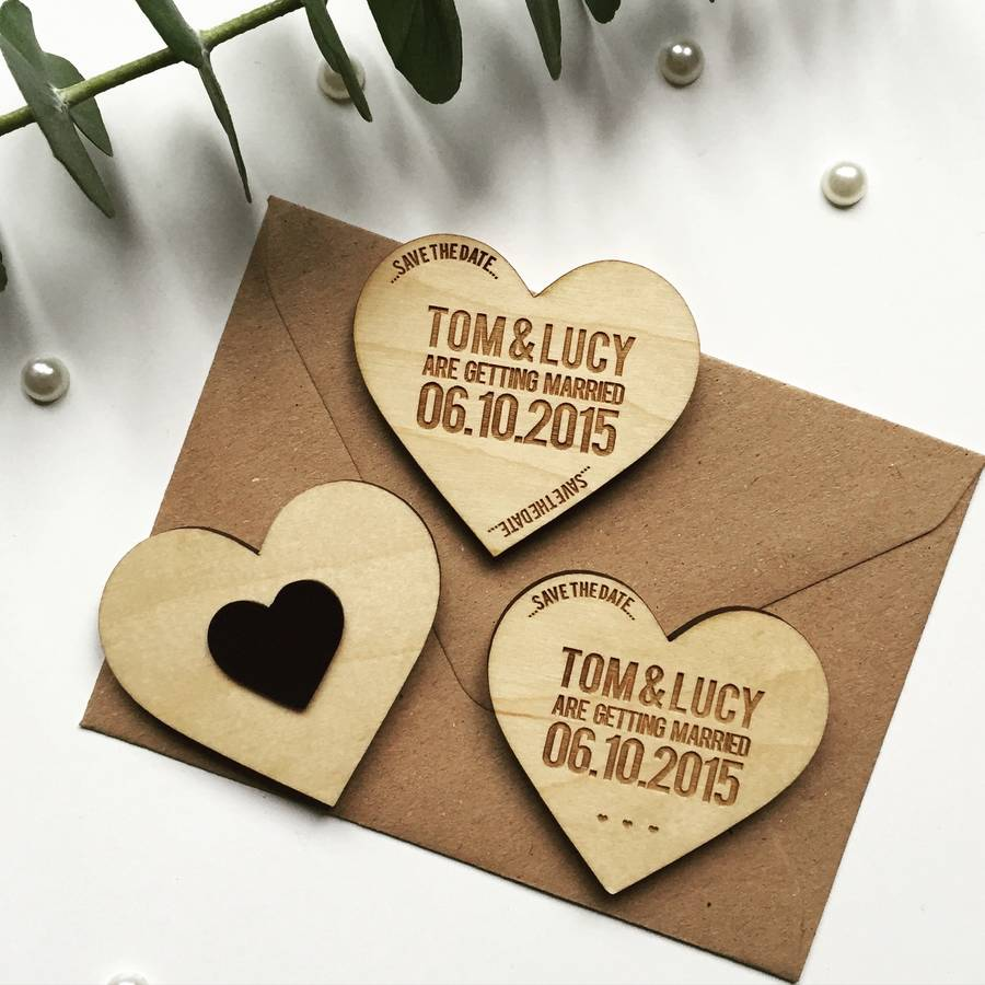 Rustic Save The Dates Party Favors