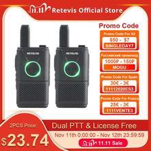 RETEVIS RT618 RT18 PMR Đài Phát Thanh Sạc Mini Bộ Đàm 2 Chiếc PMR446 PMR 446 FRS Dual PTT VOX 2 cách Tai Nghe Bộ Đàm