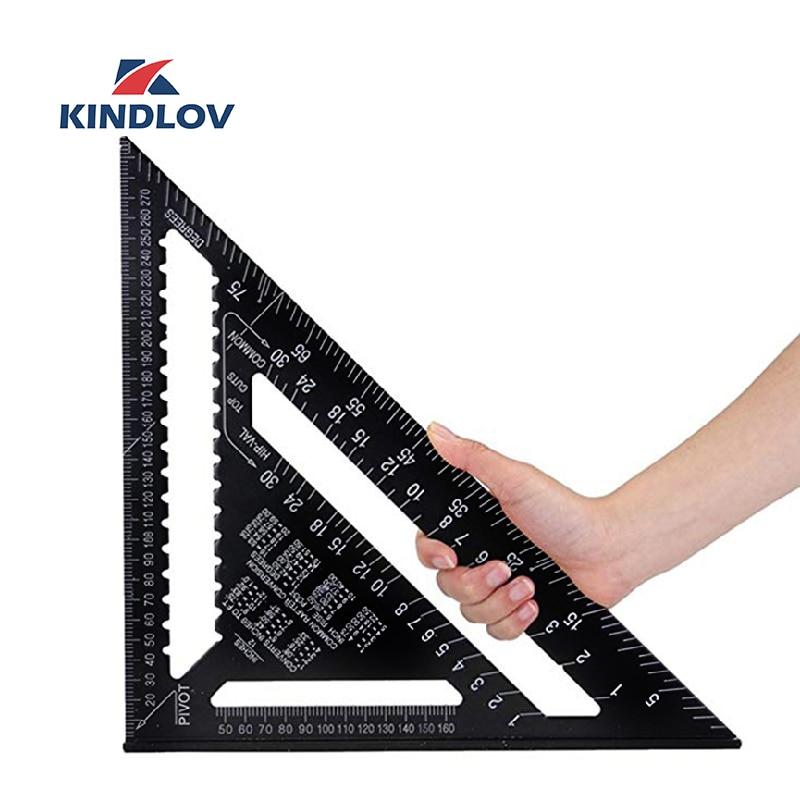 KINDLOV 7/12 Inch Triangle Angle Ruler Triangular Gauge Protractor Trammel For Woodworking Carpenter Measurement Hand Tools
