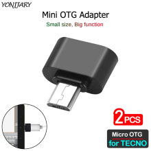 2Pcs USB Micro OTG อะแดปเตอร์สำหรับ TECNO Camon CX ซม X 11 12 15 Pro Air PREMIER F2 LTE phantom 9 Micro USB Android OTG CONNECTOR(China)
