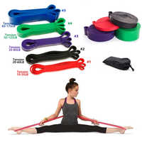 6 Level Yoga Training Belt Pull Up Resistance Bands Sets Athletic Power Rubber Bands Heavy Duty Workout Fitness Equipment