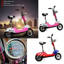 2020 Electric Vehicle Mini Scooter Battery Foldable Adult Student Comfortable Cushion Rear Lights