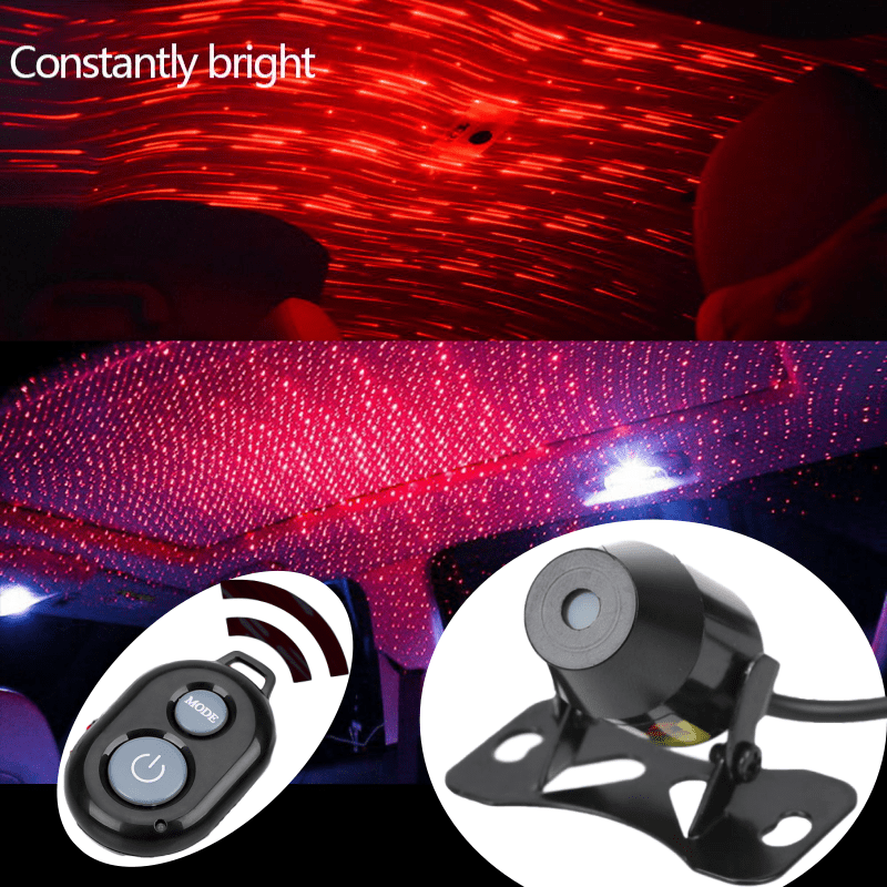 For Jeep Wrangler Commander Renegade Compass Patriot Jk Tj Jl Starry Meteor USB Remote Control Starlight Light Car Accessories