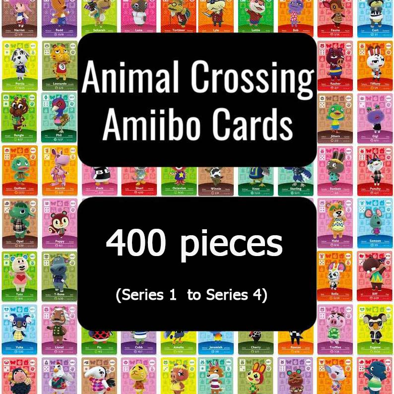 400 Pcs Card Set For Animal Crossing Card Amiibo Card Work For NS Games New Horizons NFCAmibo Switch Welcome Stickers
