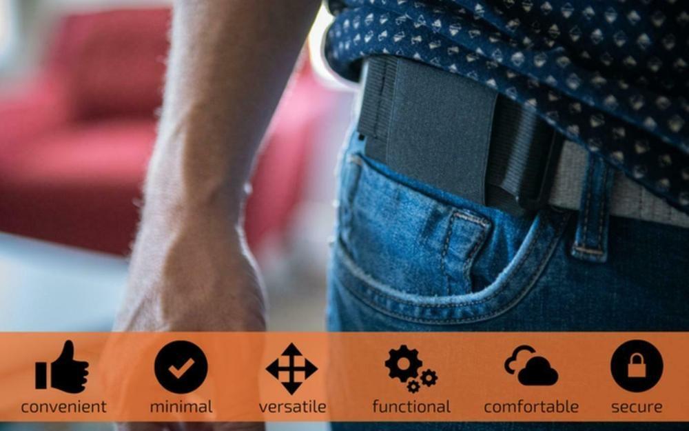 Portefeuille minimaliste invisible mini pochette