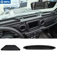 MOPAI Stowing Tidying for Jeep Wrangler 2018 Car Control Dashboard Co-pilot Armrest Storage Box for Jeep Wrangler JL Accessories