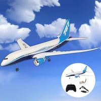 Dron teledirigido EPP con Control remoto para niños, Avión de ala fija Boeing 787, giroscopio, juguete para niños, juguetes al aire libre