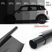 100x50cm preto escuro filme matiz da janela do carro vidro 5%-50% rolo verão carro auto casa janelas vidro matiz proteção solar
