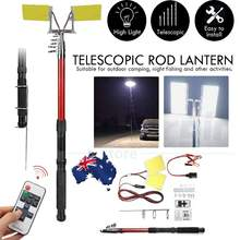 Car-Rod-Light Telescopic Remote-Controller Camping-Lamp 12V LED 2--96w