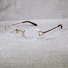 Солнцезащитные очки без оправы для мужчин и женщин роскошные