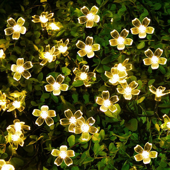DIY 2m 20LED Fairy String Light 3AA Blossom Cherry Bloom Festival   Lighting Indoor Outdoor Holiday Party Wedding Decorative 5m 20led 10m 35led big ball string light indoor outdoor decorative fairy lighting for christmas trees patio party