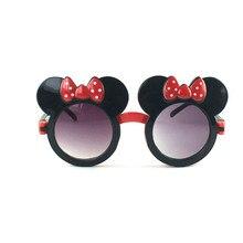 Kilig/популярные милые детские солнцезащитные очки с бантиком, крутые уникальные очки-раскладушки для мальчиков и девочек с ушками Микки, детские украшения для прогулок