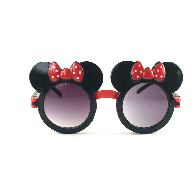 Kilig Hot Cute Kids Bow Sunglasses Cool Girls Boys Unique Clamshell Mickey Ears Eyewear Children Outing Decoration