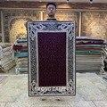 Yilong 2 5 'x4' Aubergine ковер Шелковый персидский ковры ручной вязки (HF196B)