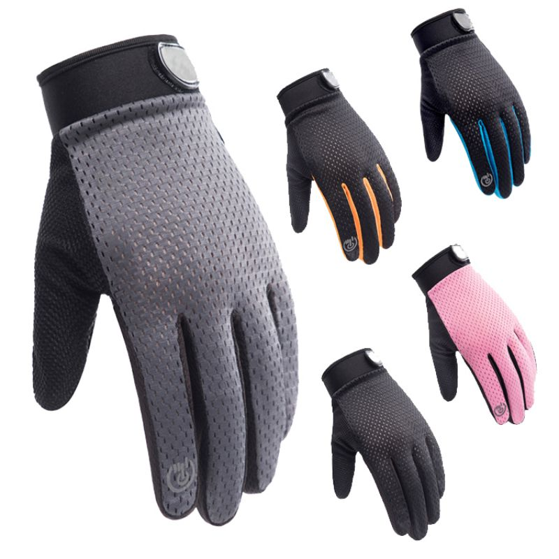 Adult Windproof Touch Screen Sports Gloves Outdoor Sports Nonslip Fitness Riding Mountaineering Full Finger Sport Gloves