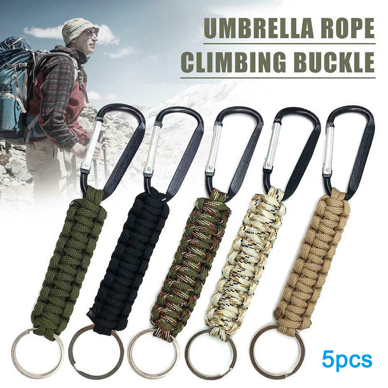 Stainless Steel Climbing Carabiner Key Chain Clip Hook Buckle Keychain Outdoor A