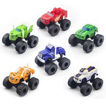 6PCS Racing Car Blaze Monster Diecast Toy Russia Miracle Crusher Truck Toys Vehicle Car Transformation Toys Best Gifts For Kids(China)