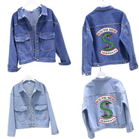 Riverdale jacket Southside Snake Riverdale New Men's Real Jacket, Denim Blue Jughead Jones Women's River double headed snake