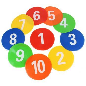 Trwały cel 10 sztuk profesjonalny do grania w piłkę nożną sprzęt znaki dyski znaki markery tarczowe płaskie dyski oficjalny rozmiar tanie i dobre opinie DOACT CN (pochodzenie) Other