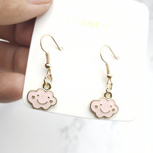 New 2020 women's fashion korean style black pink earrings