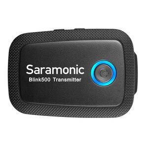 Image 5 - Saramonic Blink500 2.4GHz Çift Kanallı Kablosuz Mikrofon Sistemi ile Yaka Youtube röportaj Vlog Mic Kameralı cep Telefonları Için