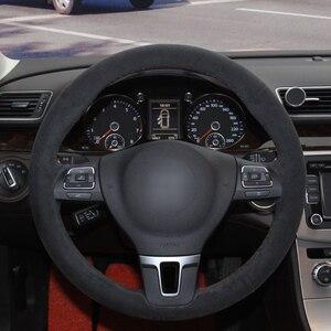 Image 2 - Camurça preta Genuína Tampa Da Roda de Direcção Do Carro para BMW 320d E90 320 318i 320i 325i 330i X1 328xi 2007