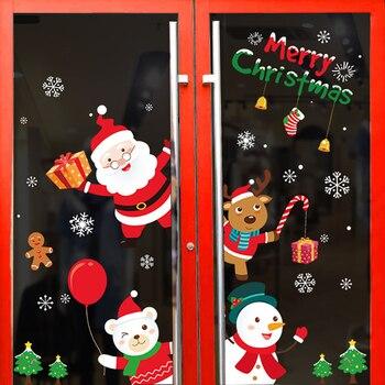 алиэкспресс на русском в рублях 2020 счастливая фотография, рождественские украшения для дома, наклейки на стену из стекла, наклейки на новый год, домашние украшения, Рождество