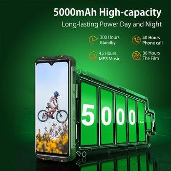 OUKITEL WP8 Pro Rugged 4G Smartphone 4GB 64GB 5000mAh Octa Core Mobile Phone NFC 16MP Triple Camera 6.49'' Android10 Smart Phone 4